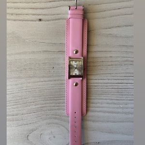 Accessories - Pink Leather Fashion Watch